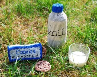 LE GOUTER D'EDMOND- dinette au crochet - jouet d'imitation fait à la main
