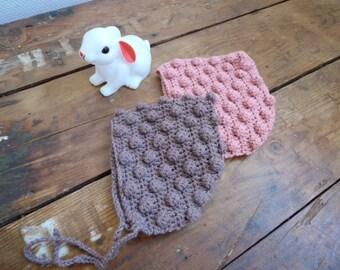 COLETTE - Bonnet béguin en laine 100% Mérinos - taille de la naissance à 36 mois (5 coloris)