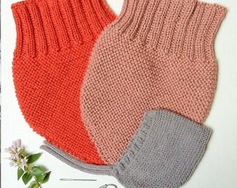 LOUIS - Tour de cou snood en laine - tricot - taille de 12 à 36 mois (21 coloris différents)