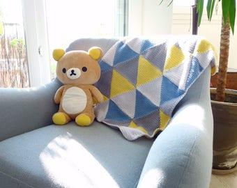 EMMA - Couverture bébé 100% pure laine mérinos