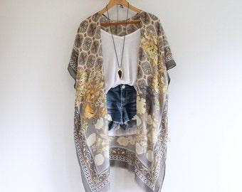 9e7544e22 Long bohemian kimono * CHINESE GARDEN *