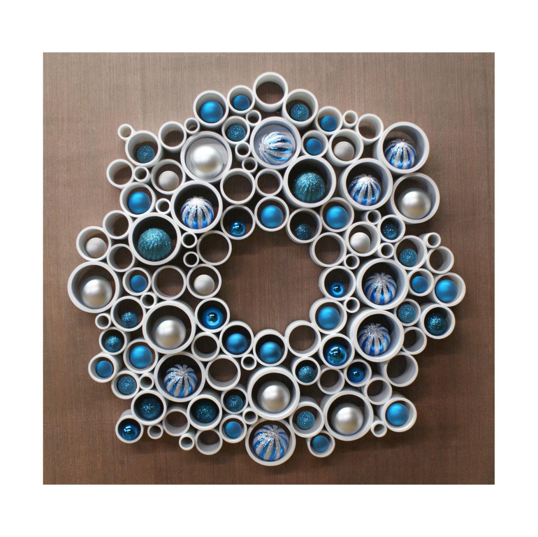 Wreath Modern Pvc Wall Decor Etsy