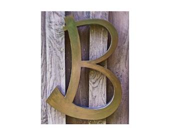"Custom 24"" Letter B, Decorative Metal Letter"