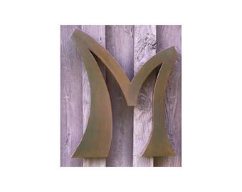 "Custom 24"" Letter M, Decorative Metal Letter"