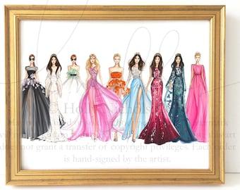 The Runway (Fashion Illustration Print)