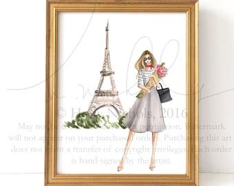 Parisian Stroll (Fashion Illustration Print)