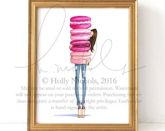Macaron Overload (Fashion Illustration Print)