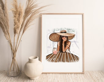 Summer Rosé Dreamer (Fashion Illustration Print)