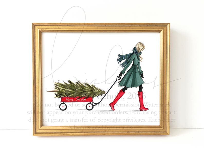 The Find Holiday Fashion Illustration Print image 0