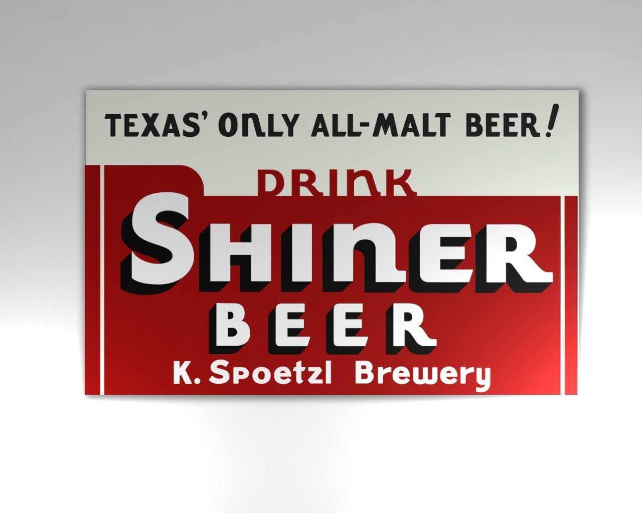 Copy of Vintage Shiner Beer Sign from the Dixie Chicken | Etsy