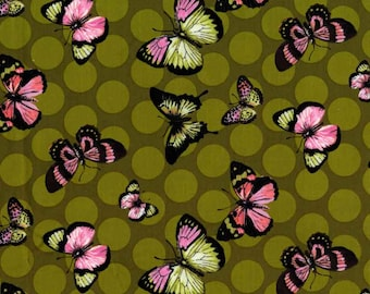 100% premium quilting cotton fabric by the yard, butterfly fabric by Paula Prass for Michael Miller. Need more fabric yardage? Just ask.