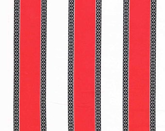 Quilting cotton fabric by the yard, premium cotton, red white stripe by Paula Prass for Michael Miller. Need more fabric yardage? Just ask.