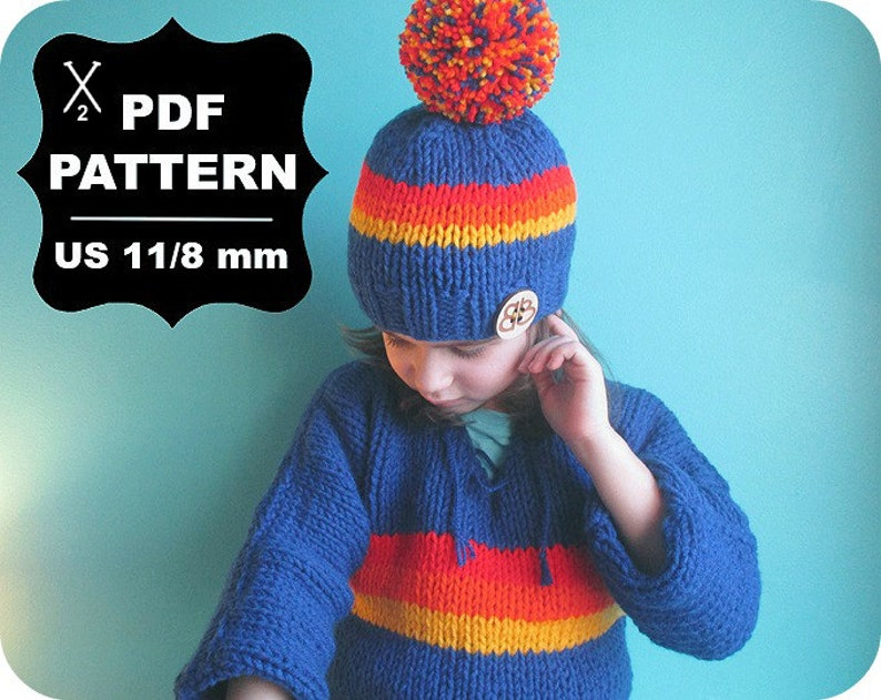 e6c975ad20c63 French KNITTING PATTERN  Digital Download   5   Knitted