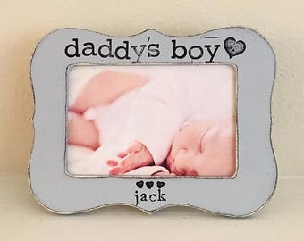 Gift for dad, new dad gift, dad to be gift, Father's Day picture frame, personalized picture frame Gift from child Gift from baby boy