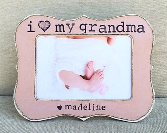 Personaized picture frame Gift for grandma Grandma gift Mother's Day gift Grandma frame Grammy frame - Flowers in December DS
