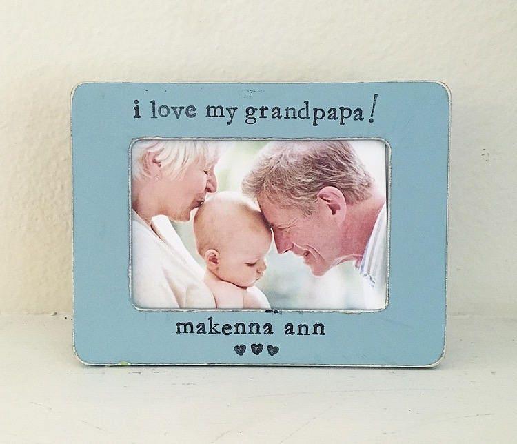 Grandpa gift Grandpa frame I love grandpa personalized picture | Etsy