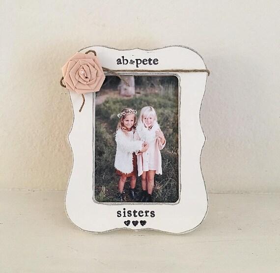 sister gift sisters picture frame Big sister frame little | Etsy