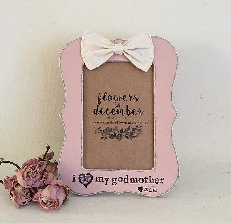 Godparents Picture Frame I Love My Godparents Gift Mothers Etsy