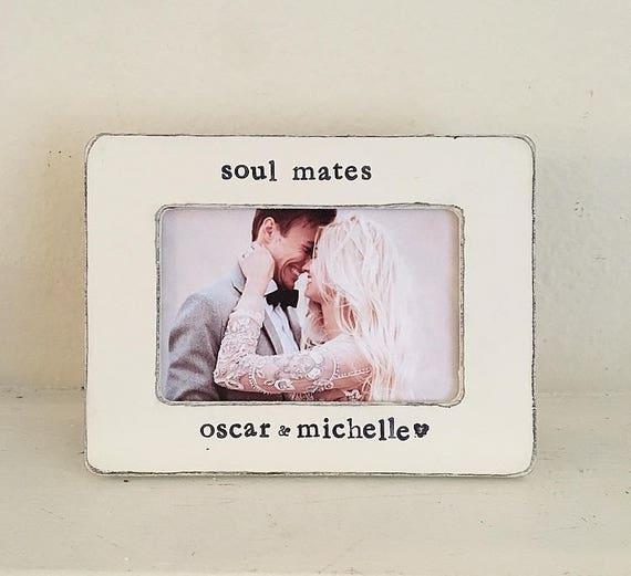 Wedding picture frame soul mates gift boyfriend girlfriend | Etsy