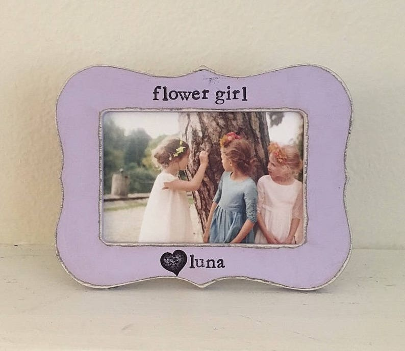 Flowers in December Flower girl picture frame Gift for flower girl personalized flower girl frame from bride wedding frame