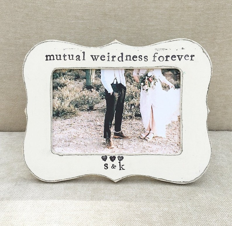 Flowers in December DS Mutual weirdness forever sign picture frame Finace gift husband gift Wife gift
