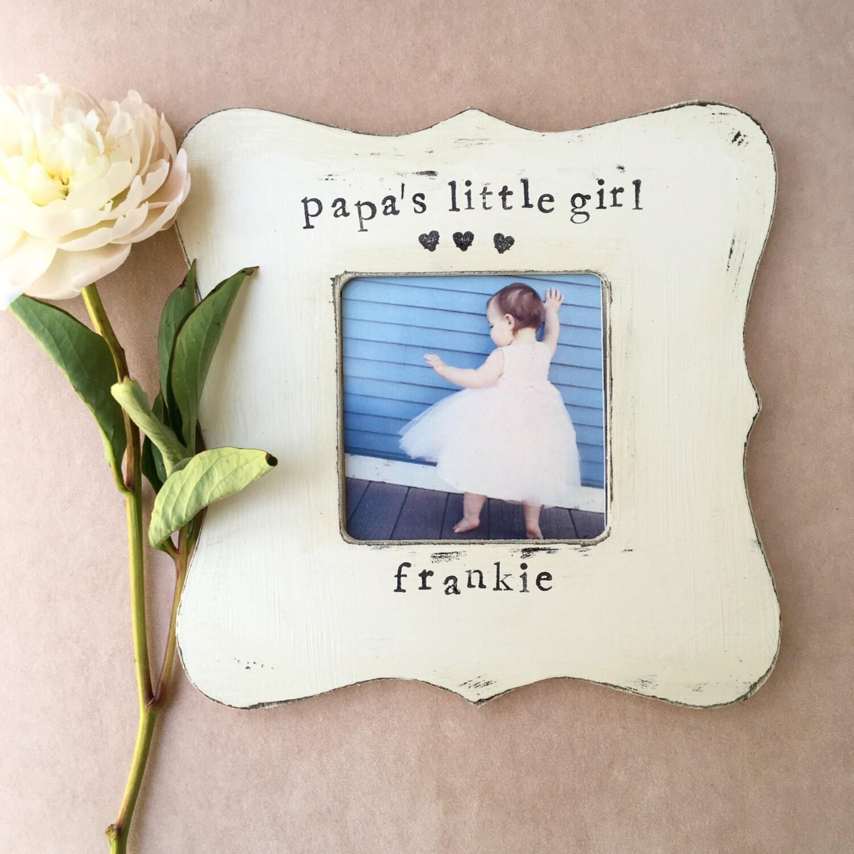 GIFT for papa grandpa picture frame papas little girl | Etsy