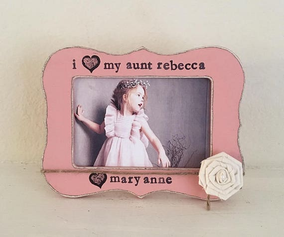 Personalized Gift For Aunt I Love My Aunt Picture Frame Gift Etsy