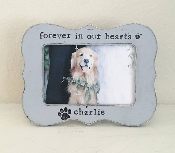 Dog picture frame pet loss pet memorial frame personalized | Etsy
