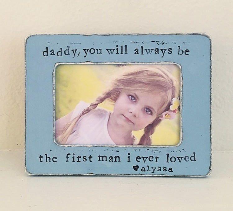 Vatertag Bild Rahmen Vater Tochter erste Liebe personalisierte | Etsy
