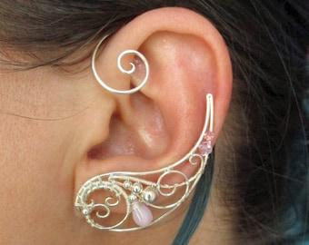Pair of ear cuffs Fourth Dimension