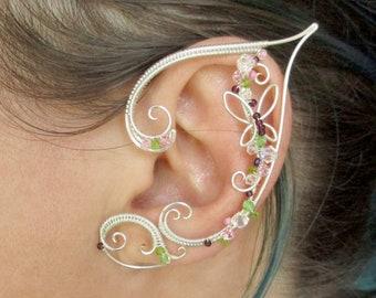 Pair of elf ear cuffs Silver memories