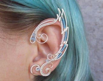 Pair Of Elf Ear Cuffs Dreamcatcher Ear Cuff Elf Ears Etsy