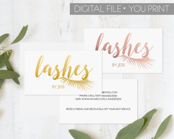 image 0 - Lash Extension Business Cards