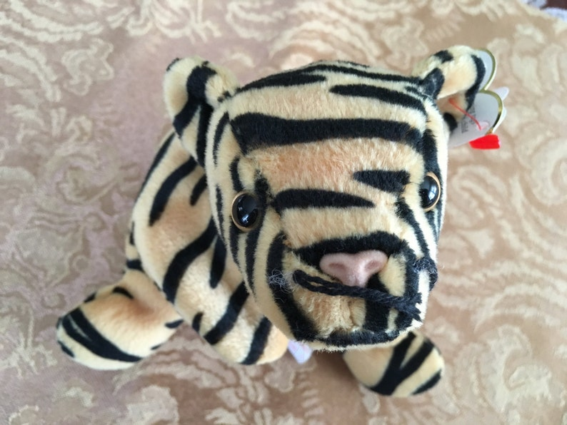 aa73f9cb328 Beanie Baby Ty Beanie Baby Stripes the Tiger Tiger Plush