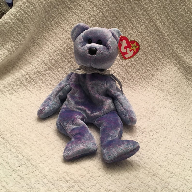 52b8bc99572 Beanie Baby Purple Hue Bear Ty Beanie Baby Clubby II the