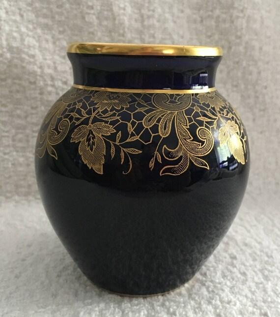 Hutschenreuther Hohenberg Bavaria Kobalt Blau Vase | Etsy