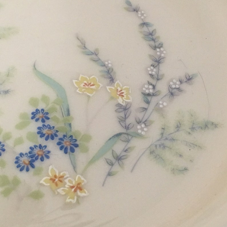 USA 1979-1983 Porcelain Floral Bowl Lenox Cinderella Fruit Dessert Sauce Bowl Cinderella Bowl Butterflies and Flowers Platinum Trim