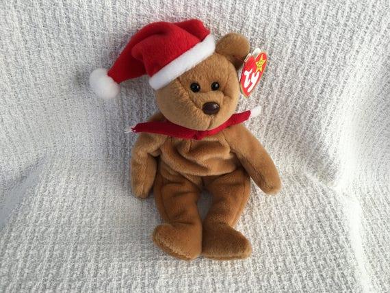 Beanie Baby Ty Beanie Baby Santa Bear Bear Plush Santa  de623afe7c6
