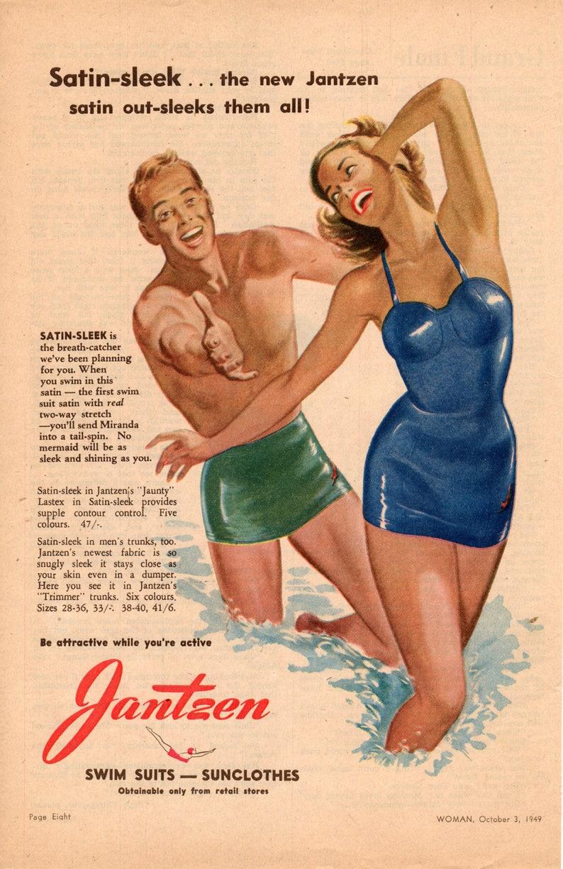 Anuncio 1949 De Original Baño Trajes Jantzen Vintage rtdCxQsh