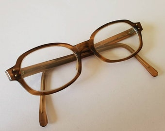 2091d031b4 Vintage 1960s Mens Unisex Brown Round Frame Eyeglasses by American Optical  Size 5 1 2 in 1930s Style