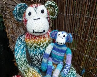 Knitting Pattern (US) for Mischief Monkey knitted monkey toy. Monkey Knitting Pattern, toy pattern, knit toy, stuffed animal pattern, ape.