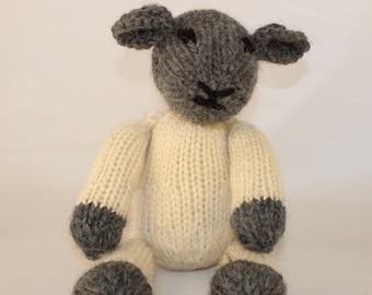 Knitting Pattern (UK) • Lucy Lamb • Spring Lamb • Sheep Knitting Pattern • Stuffed Animal Pattern • Soft Toy Pattern • Spring Knitting
