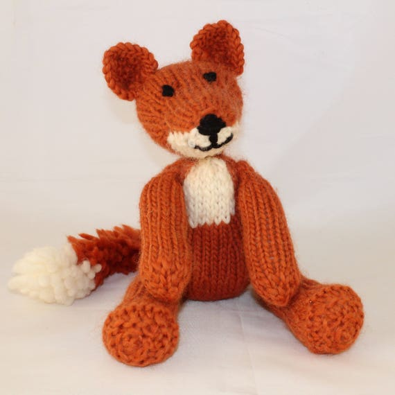 Knitting Pattern Uk For Freddie Fox An Adorable Knitted Etsy
