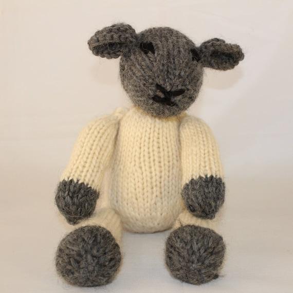 Knitting Pattern Uk Lucy Lamb Spring Lamb Sheep Etsy