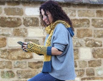 Brioche Knitting Tutorial Pattern - Beginners knitting pattern for learning brioche techniques. Create wrist warmers or a scarf.