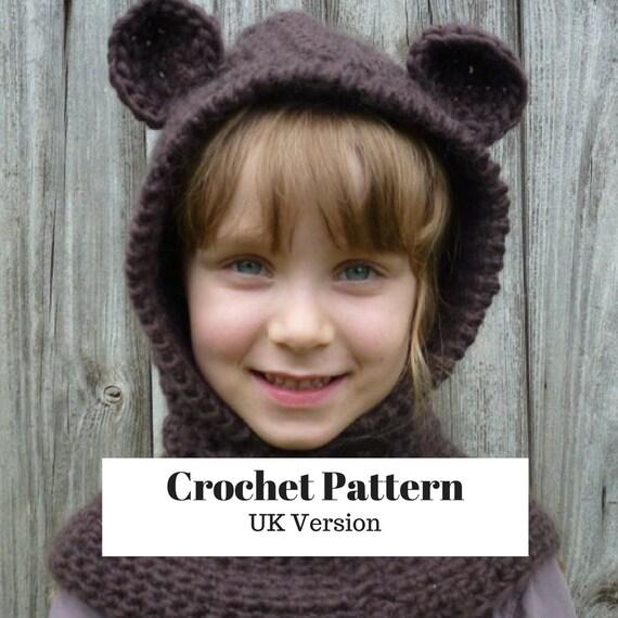 Hooded Scarf Crochet Pattern Hat Patterns Crochet Hood Pattern Etsy