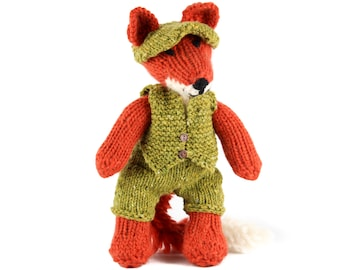 KNITTING PATTERN: Clothes for Freddie Fox Toy - US Terms - Fox Toy Pattern Not included - Detailed pdf Project Book - Instant Download