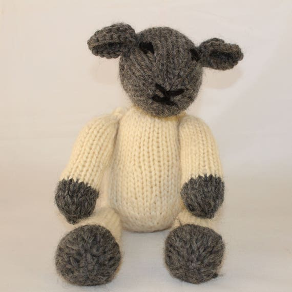 Knitting Pattern Us For Lucy Lamb A Cute Black Face Etsy