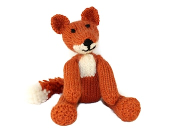 KNITTING PATTERN: Freddie Fox Toy - US Terms - Detailed pdf Project Book - Instant Download