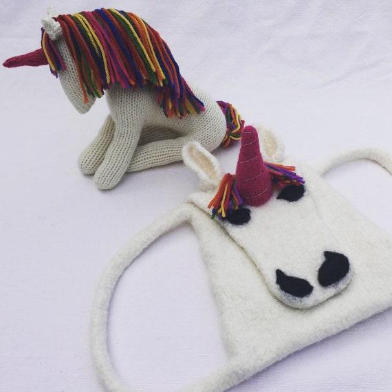 Multibuy Knitting Patterns Us Unicorn Knitting Rainbow Etsy